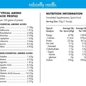 AT health – Naturally vanilla grass-fed whey protein 1kg
