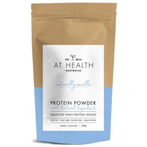 AT health - Naturally vanilla grass-fed whey protein 500g